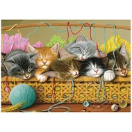 Cobble Hill Puzzles Cobble Hill Kittens in Basket Tray Puzzle 35pcs RETIRED