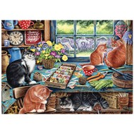 Cobble Hill Puzzles Cobble Hill Garden Shed Cats Tray Puzzle 35pcs