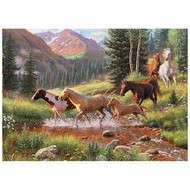 Cobble Hill Puzzles Cobble Hill Horse Stream Tray Puzzle 35pcs