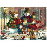 Cobble Hill Puzzles Cobble Hill Snowman Family Tray Puzzle 35pcs
