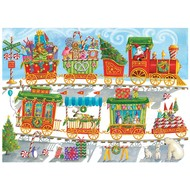 Cobble Hill Puzzles Cobble Hill Christmas Train Family Puzzle 350pcs