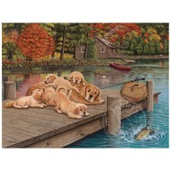 Cobble Hill Puzzles Cobble Hill Lazy Day on the Dock Easy Handling Puzzle 275pcs