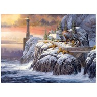 Cobble Hill Puzzles Cobble Hill Winter Lighthouse Puzzle 1000pcs