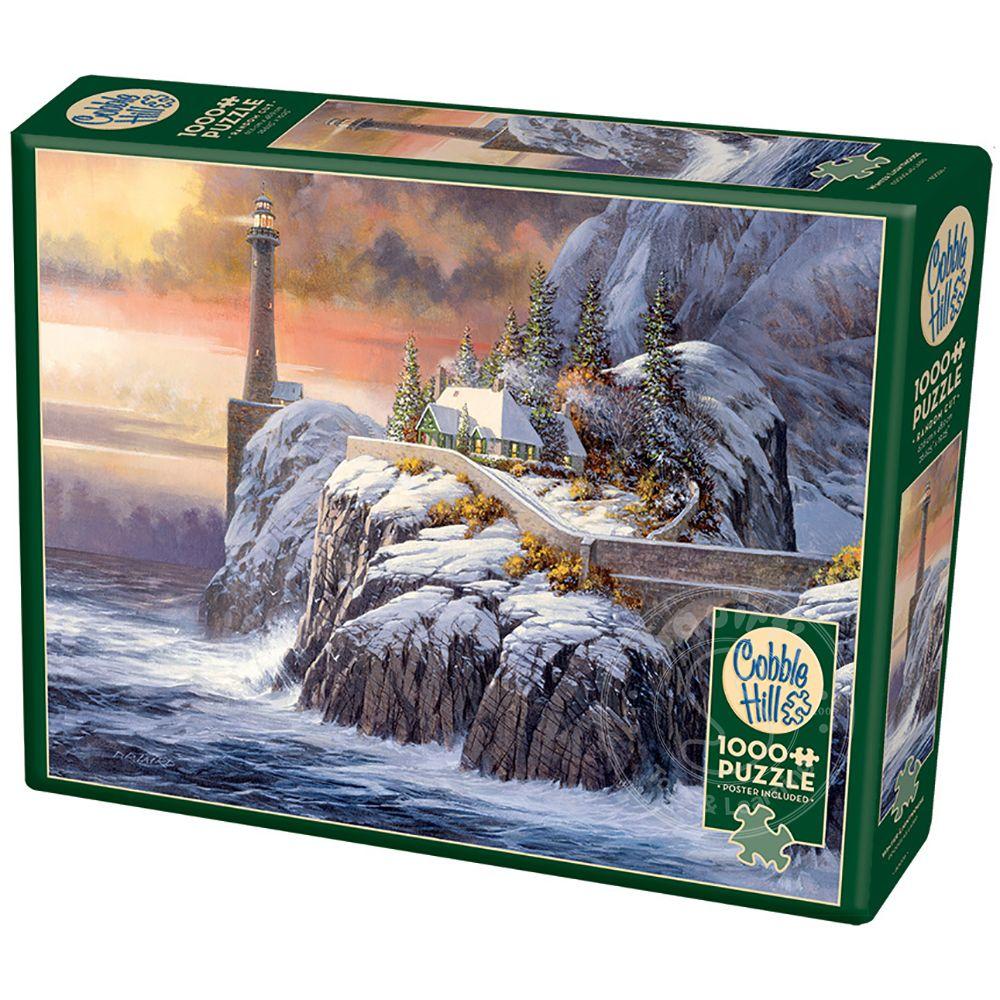 cobble hill winter lighthouse puzzle 1000pcs