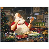 Cobble Hill Puzzles Cobble Hill Santa Painting Cars Puzzle 1000pcs