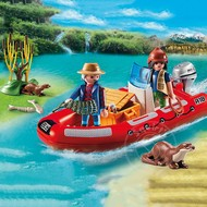 Playmobil Playmobil Inflatible Boat with Explorers RETIRED
