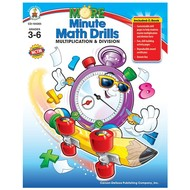 Carson Dellosa More Minute Math Drills Multiplication & Division Grades 3-6