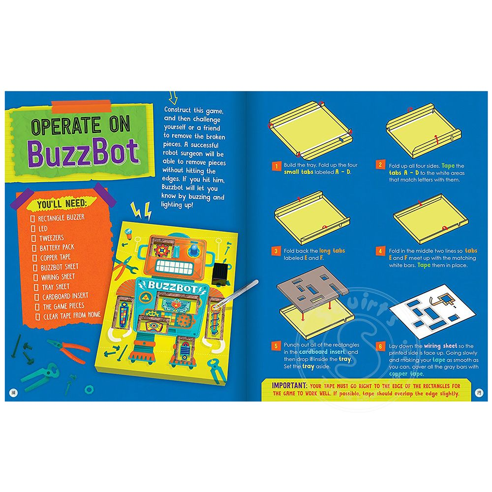 Klutz Maker Lab Circuit Games - Squirt\'s Toys & Learning Co