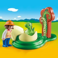 Playmobil Playmobil 123 Girl with Dino Egg