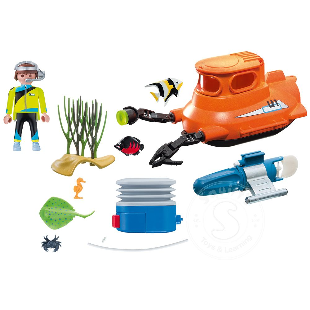 Playmobil Submarine with Underwater Motor - Squirt\'s Toys & Learning Co