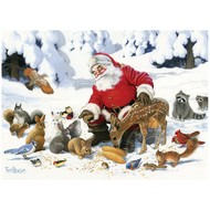 Cobble Hill Puzzles Cobble Hill Santa Claus and Friends Family Puzzle 350pcs