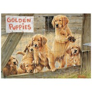Cobble Hill Puzzles Cobble Hill Golden Puppies Puzzle 500pcs