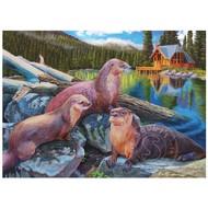 Cobble Hill Puzzles Cobble Hill River Otters Puzzle 1000pcs