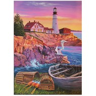 Cobble Hill Puzzles Cobble Hill Lighthouse Cove Easy Handling Puzzle 275pcs