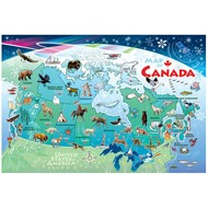 Cobble Hill Puzzles Cobble Hill Map of Canada Floor Puzzle 48pcs