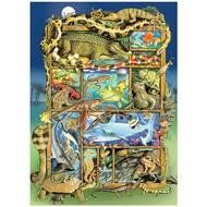 Cobble Hill Puzzles Cobble Hill Reptiles and Amphibians Family Puzzle 350pcs
