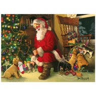 Cobble Hill Puzzles Cobble Hill Santa's Lucky Stocking Family Puzzle 350pcs