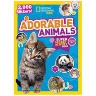 Random House National Geographic Kids  Adorable Animals Super Sticker Activity Book