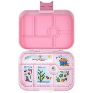 Yumbox YumBox Original 6 Compartment - Hollywood Pink w/ Kite Tray