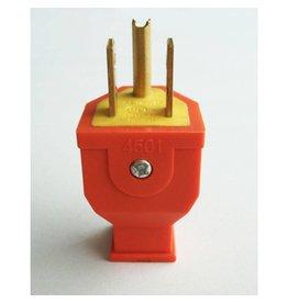 3 Wire Male Plug - Orange
