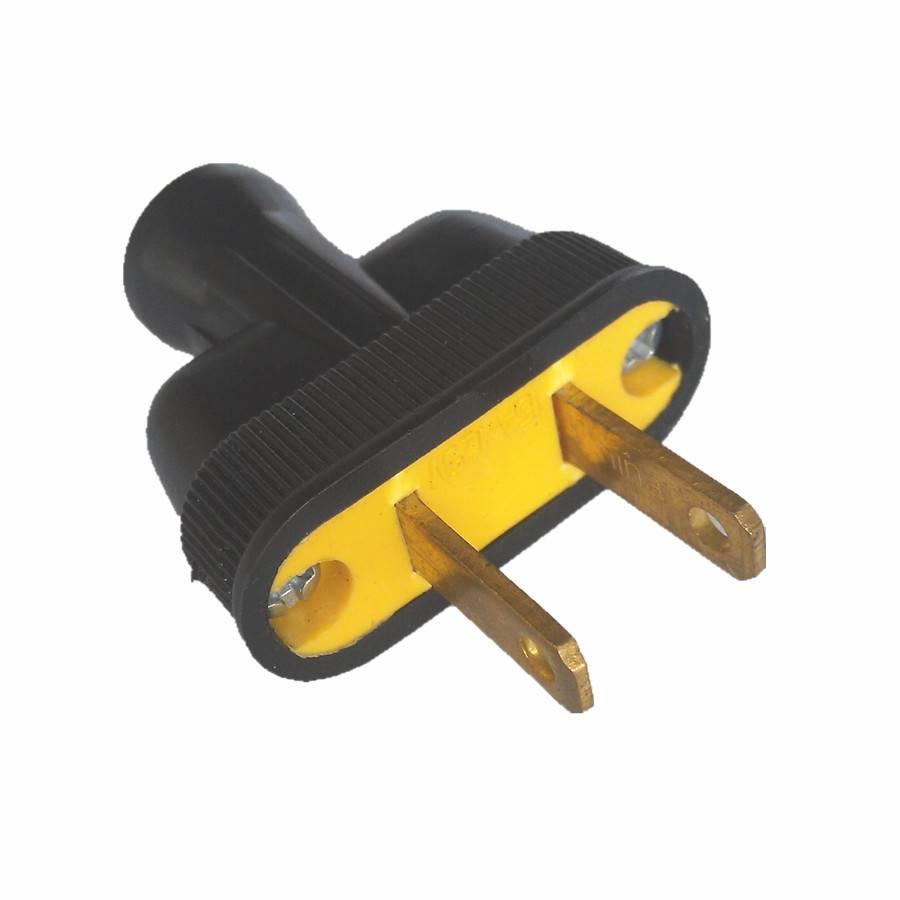2 Wire Male Plug - Black