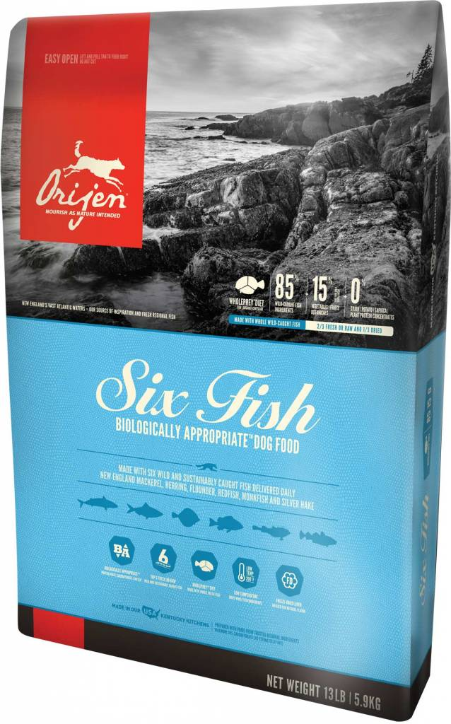 Champion Pet Foods Orijen 6-Fish 13lb Grain Free Dry Dog Food