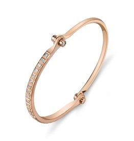 Handcuffs 18K Rose Gold Baguette  Diamond Handcuff.62 cts. baguettes