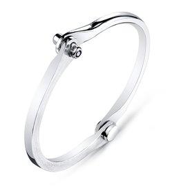 Silver Handcuffs Men's Silver Oxidized Handcuff w/ Onyx Studs.20 cts. Black OnyxSize 3
