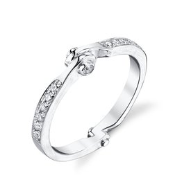 Band 18K White Gold Diamond Handcuff Band.20cts diamonds