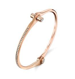 Handcuffs 18K Rose Gold Pave Skinny Handcuff w/ White Diamonds.75cts. diamond