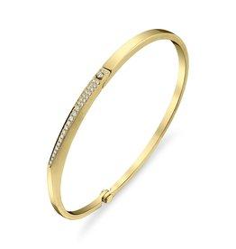 """Cuff 18K Yellow Gold, Pave Diamond Skinny """"V"""" Cuff.20cts diamonds"""