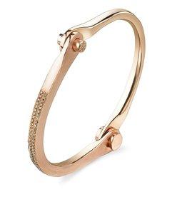 Handcuffs 14K Rose Gold, Micro Pave Brown Diamond Handcuff1.00 ct. brown diamondsSize 1