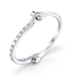 Handcuffs 14K Solid White Gold, Pave White Diamond Handcuff1.90 cts. white diamonds