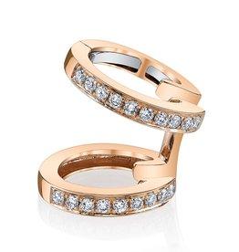 Earcuff 18K Rose Gold, Pave Diamond Multi Earcuff.18cts diamonds