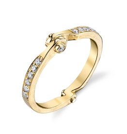 Band 18K Yellow Gold Diamond Handcuff Band.20cts diamonds