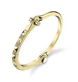 Handcuffs 18K Yellow Gold Pave White Diamond Pyramid Handcuff.50cts white diamond