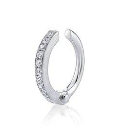 Earcuff 18K White Gold Pave Diamond Handcuff Earcuff.07cts diamonds