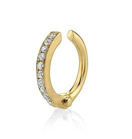 Earcuff 18K Yellow Gold Pave Diamond Handcuff Earcuff.07cts diamonds