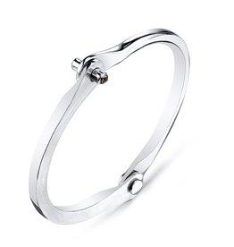Men&#039;s Brown Diamond Silver Handcuff<br />Men&#039;s Silver Handcuff w/ Brown Diamond Studs