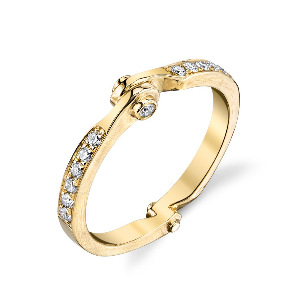 18K Yellow Gold Diamond Handcuff Band<br />