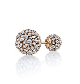 Mixed Cut Diamond Double Ball Stud