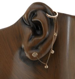 Brown Diamond Chain Earcuff