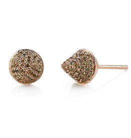 Brown Diamond Spike Studs