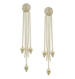 Diamond Spike Dangle Earrings