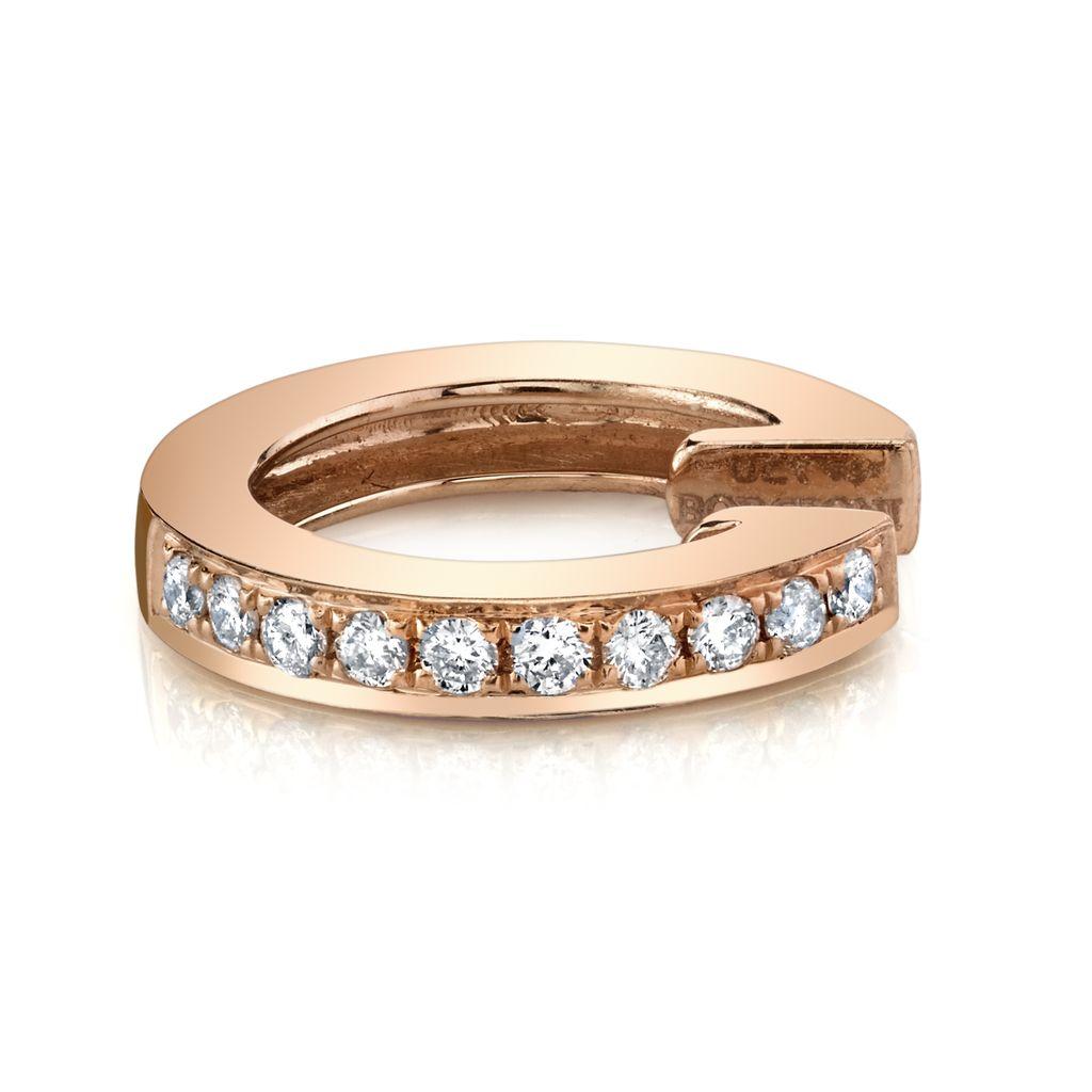 18K Rose Gold, Pave Diamond  Earcuff.10cts diamonds