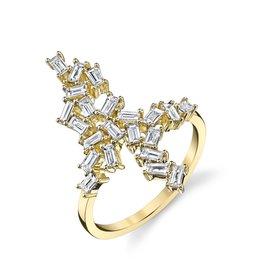 Baguette Cluster  Ring