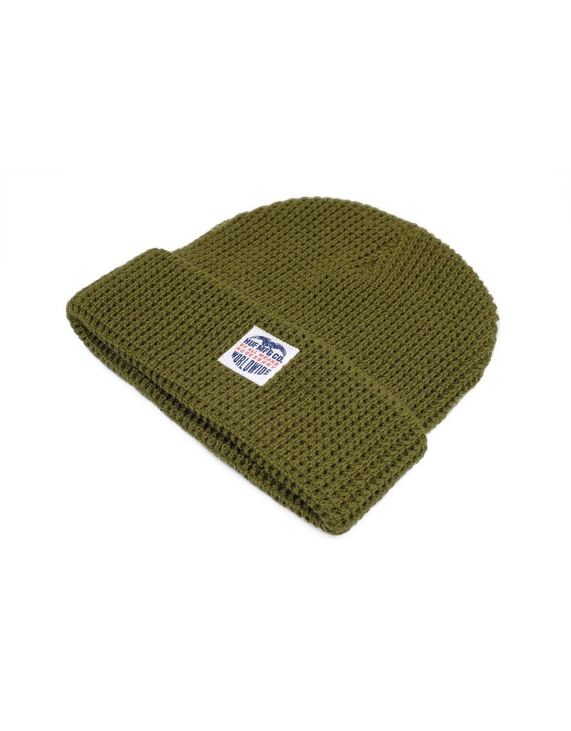 HUF HUF // Waffle Knit Badge Beanie