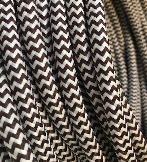 Brown/White Fabric Cable