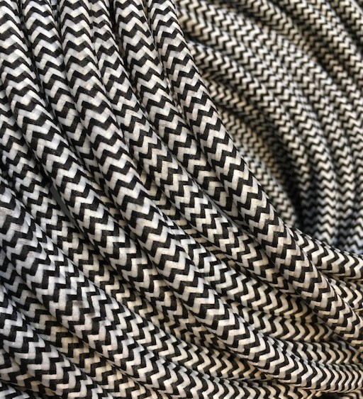 Black/White Fabric Cable