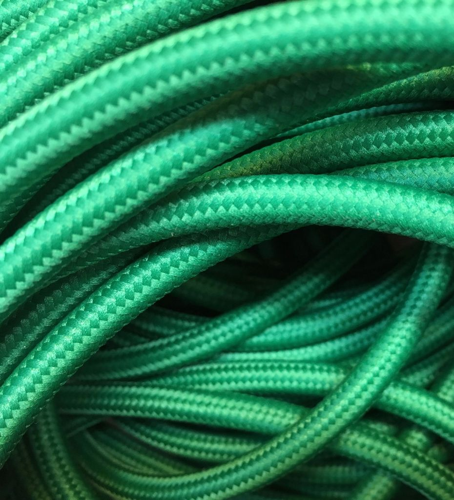 Green Fabric Cable